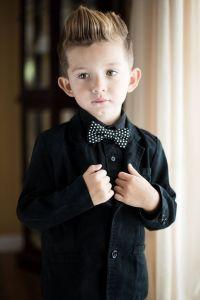 Children baby toddler kid boys black white polka dot bow ...