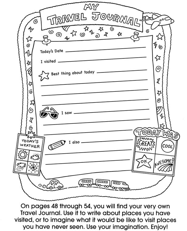 18 best images about Kids road trip journal on Pinterest