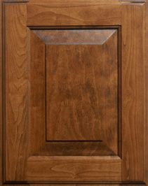 Special Walnut stain on maple cabinet doors shaker style