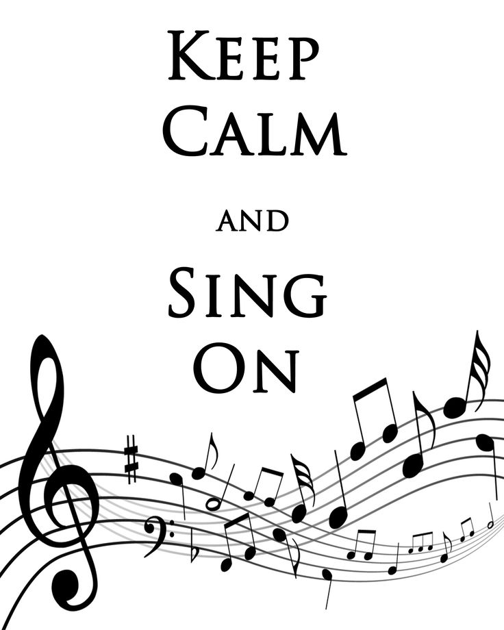 Debbie Does Creations: Keep Calm and Sing On FREE