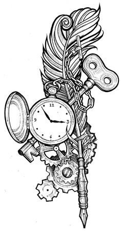 25+ best ideas about Steampunk Tattoo Design on Pinterest
