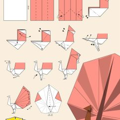 Peacock Bird Diagram Duck Wing Pavo Real Post-it | En Papel Pinterest And Origami