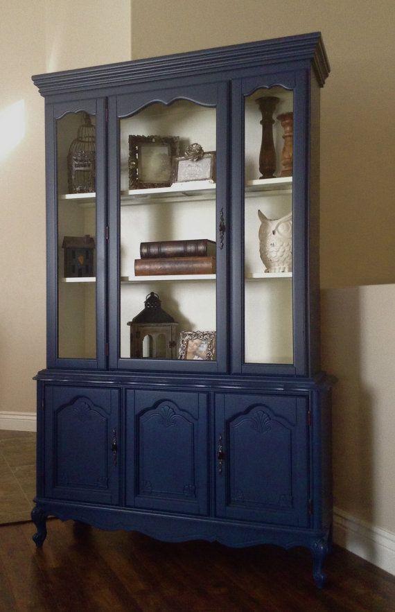 Best 25 Blue china cabinet ideas on Pinterest  Painted hutch China cabinets and Painted china