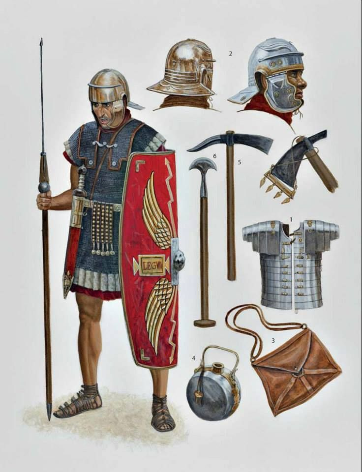 roman soldier diagram stove wiring legionary and his equipment. early 1st century ce | republican army pinterest ...
