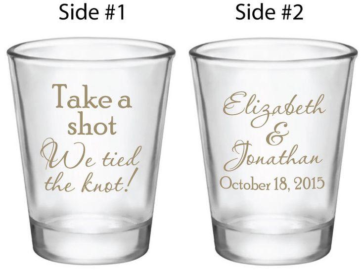 1000+ Ideas About Wedding Shot Glasses On Pinterest