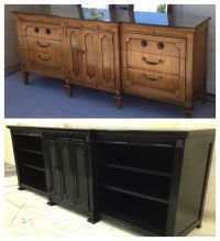 Converted 9 drawer dresser into TV stand / Media Unit www ...