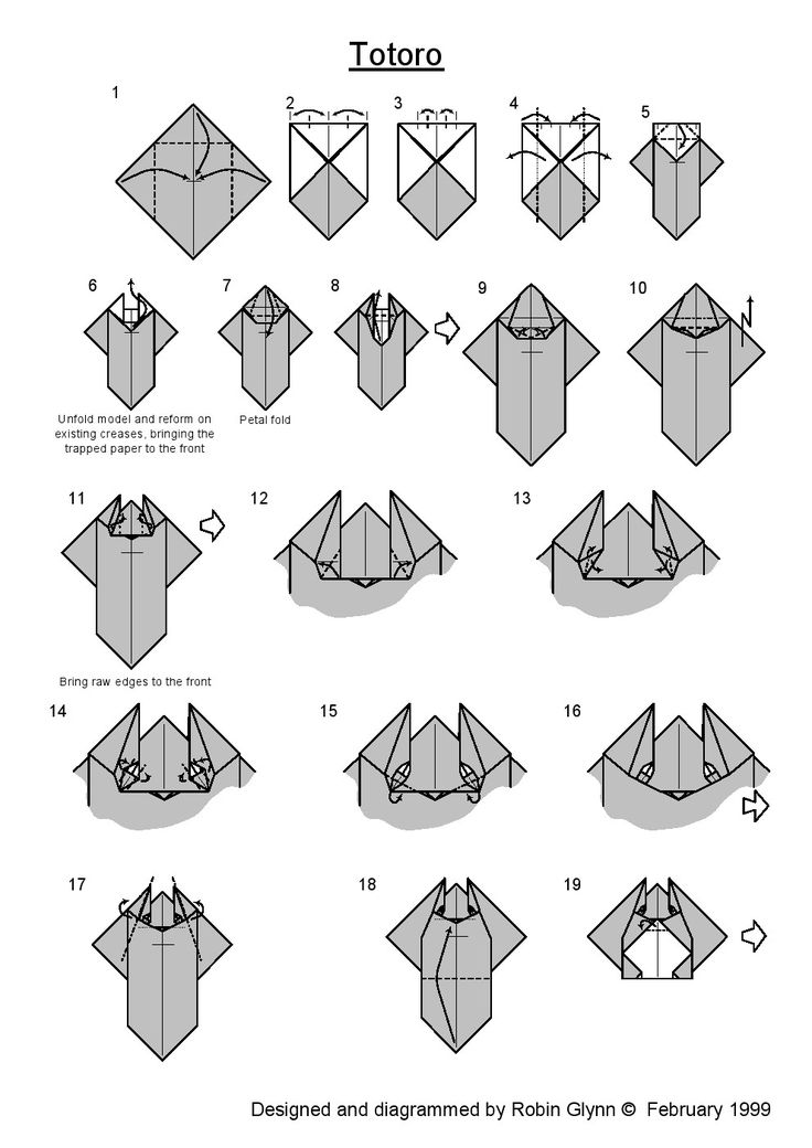 origami shoes diagram