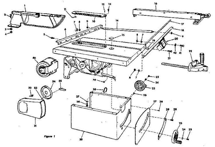 Craftsman table saw parts diagram view: ncwoodworker.net