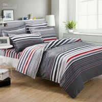 grey and red comforter | grey and red stripes print mens ...