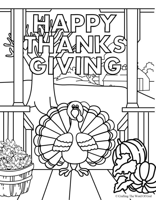 Happy Thanksgiving 4 (Coloring Page) Coloring pages are a
