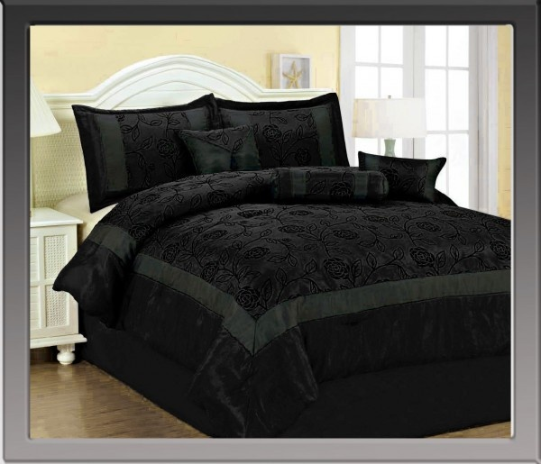 Black Roses Bedding And Black On Pinterest