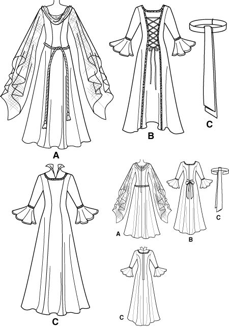 25+ Best Ideas about Medieval Dress Pattern on Pinterest