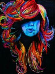 colorful hair painting. gunna
