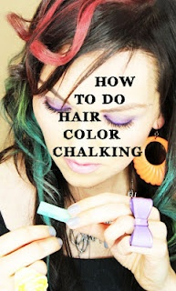 hair chalking this would be fun for spirit day at school or something like that i love that it
