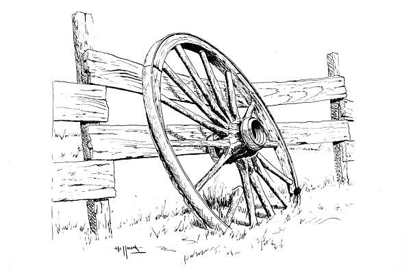 Mobile/pencil Of Old Wagons Coloring Pages