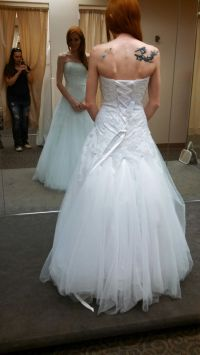 Bustle for tulle wedding dress suggestions? - Weddingbee ...
