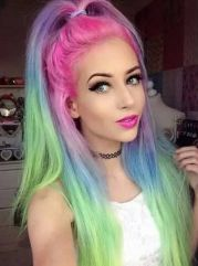 #rainbow #hair #beauty