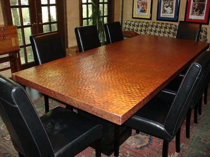 Copper top dining room table httpwwwdiynetworkcomvideoscoppertopdiningtablevideo