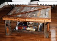 Barn door coffee table | Ben's Future Man Cave | Pinterest