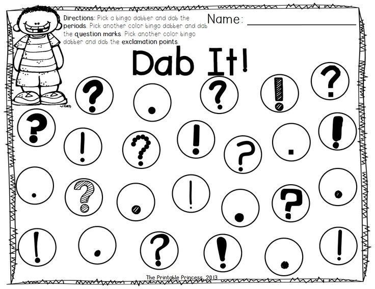 Kindergarten Literacy Centers {Using Bingo Dabbers