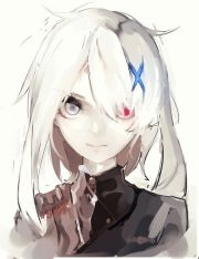 anime girl white hair cute