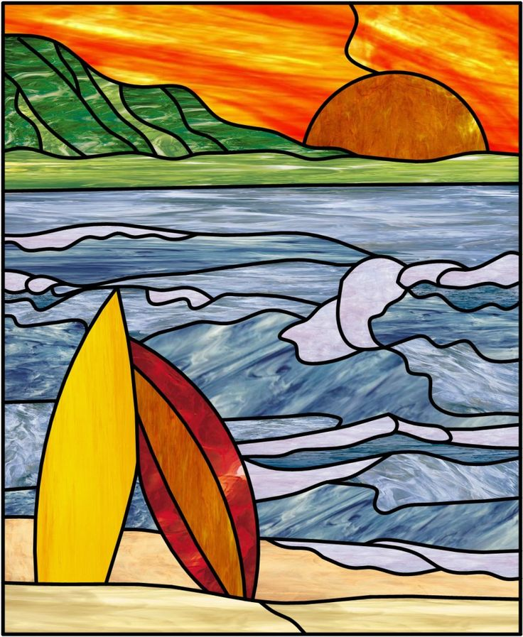 95 Best Images About Stained Glass Seascapes On
