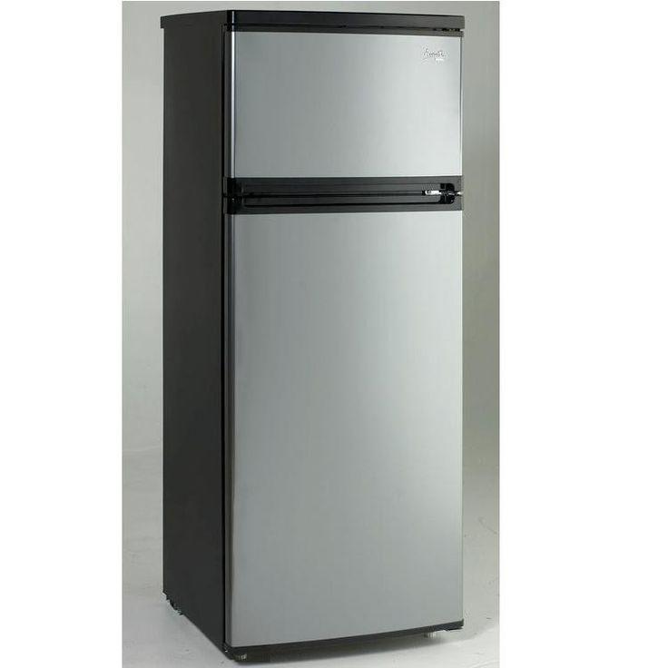 Avanti 74 CF Two Door Apartment Size Refrigerator  Black