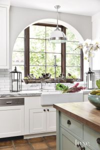 Spanish Colonial White Kitchen with Archways   Luxe   Bath ...