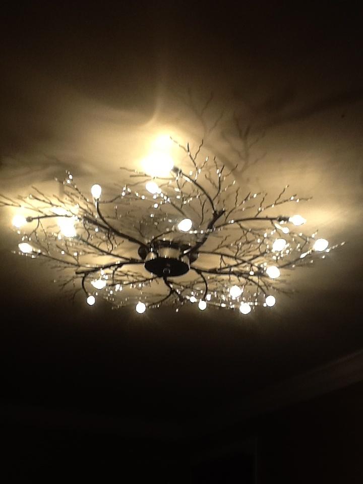 My bedroom light Possini Euro Branch 30 12 Wide Ceiling