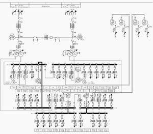 Single line diagram of 110 kV Olympic substation   Power Substations   Pinterest   Line diagram