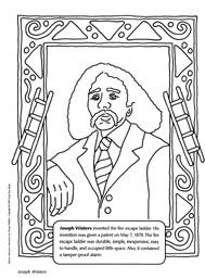 Joseph Winters coloring sheet (inventor of the fire escape