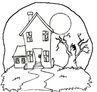 10+ images about house coloring pages for applique or