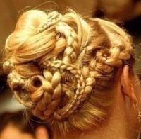 A very complicated braided bun | Beauty | Pinterest | You ...