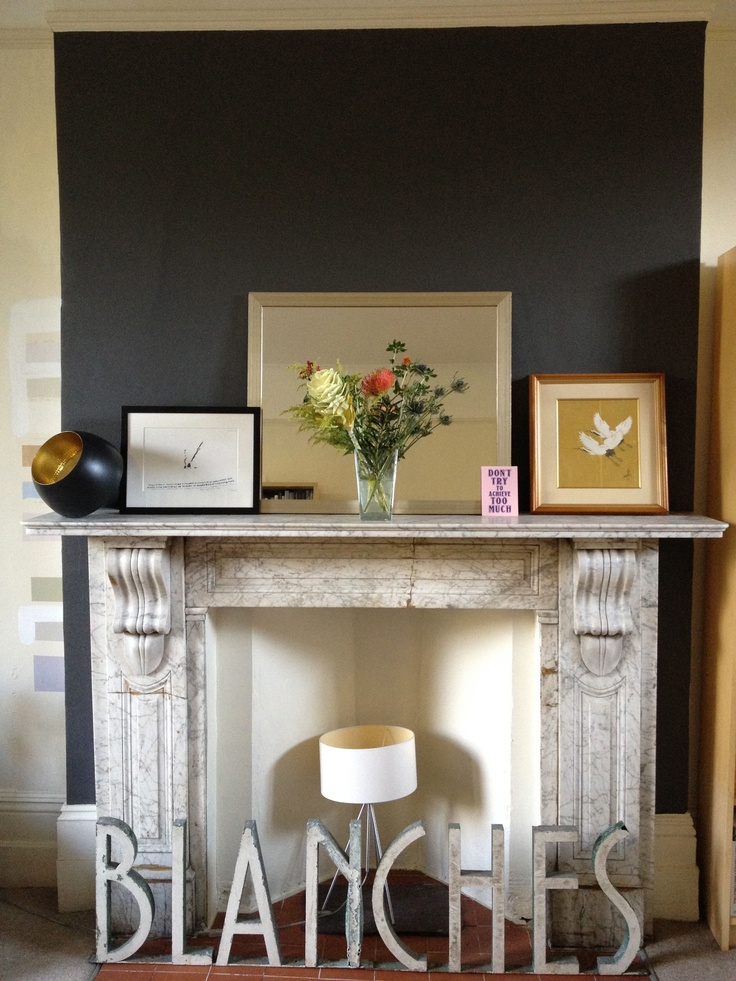 Fireplace Colour Of Feature Wall Dulux Bowler Hat