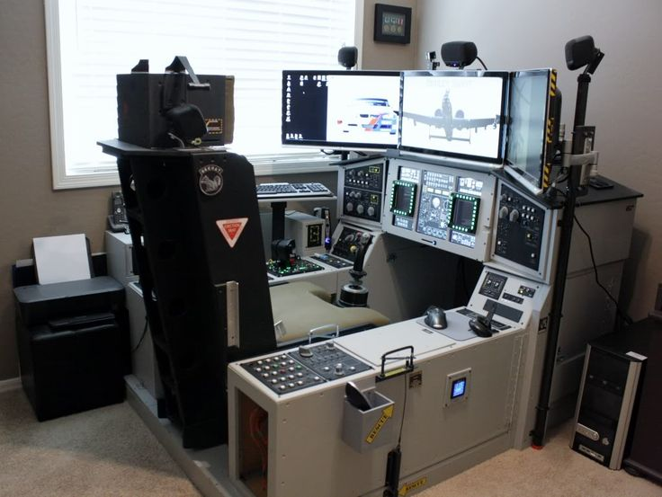 office chair joystick mount striped accent chairs with arms flat out; best flight-sim cockpit ever! (by dudleyaz) | ideas for my computer desk build ...