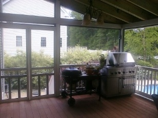 Back Porch with vented BBQ grill  Sunroom ideas 4 season porch  Pinterest  Porches Front