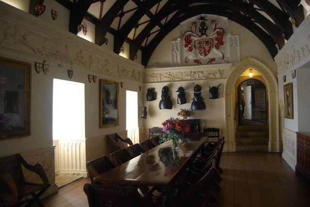 St Michaels Mount Interior  SW5129  Dining hall inside St Michaels Mount castle  Southwest