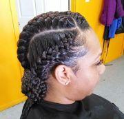 goddess braids updo with braided bun