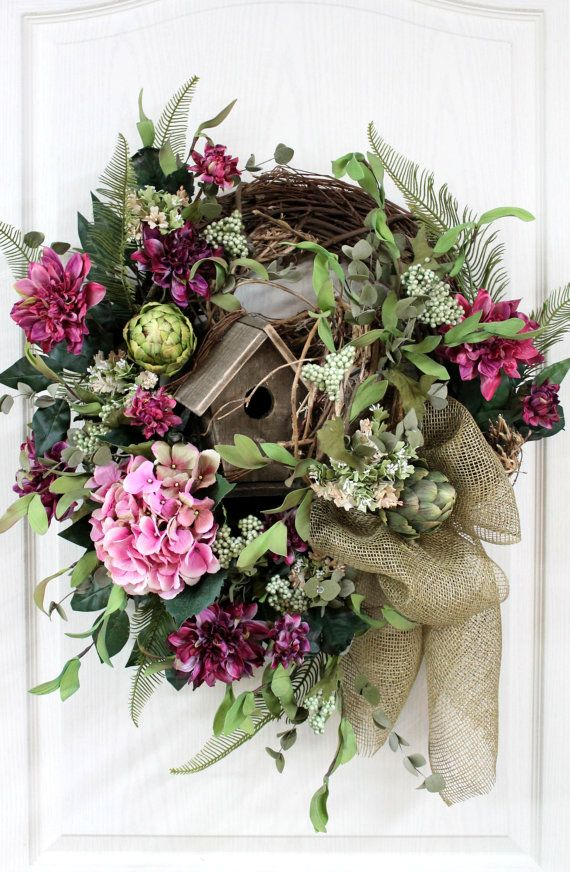 Elegant Country Wreath Front Door Wreath Rustic By