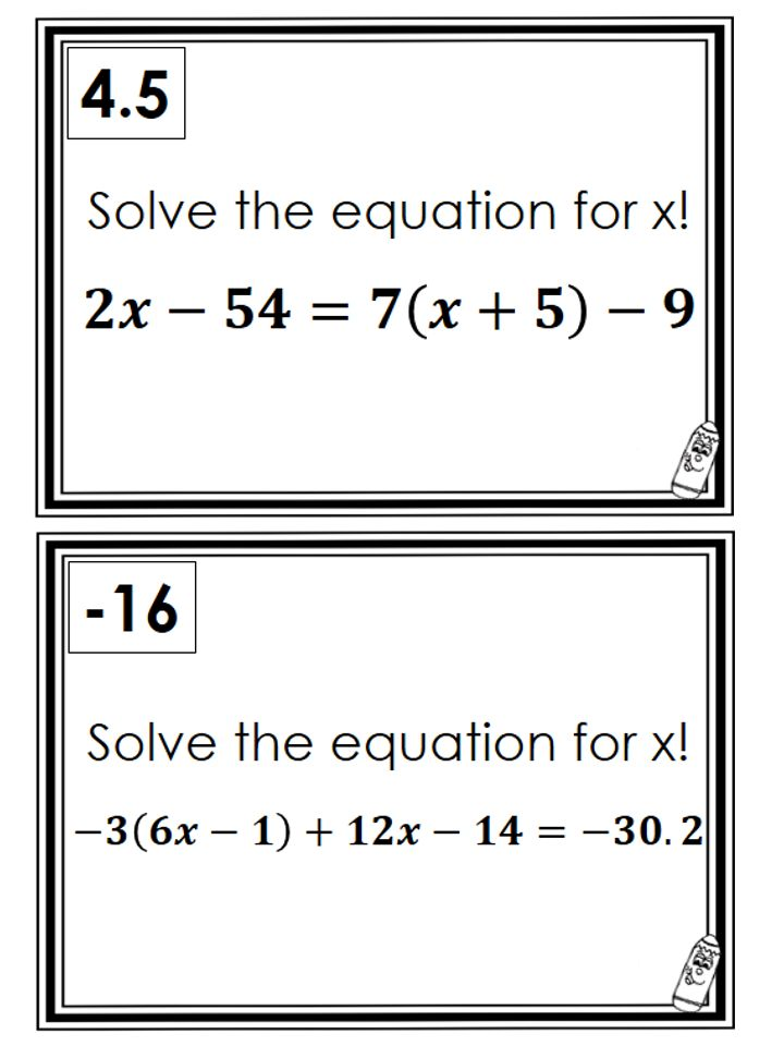 62 best images about Alg: solving linear equations on