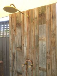 Outdoor shower - exposed brass and copper | Barndo ...