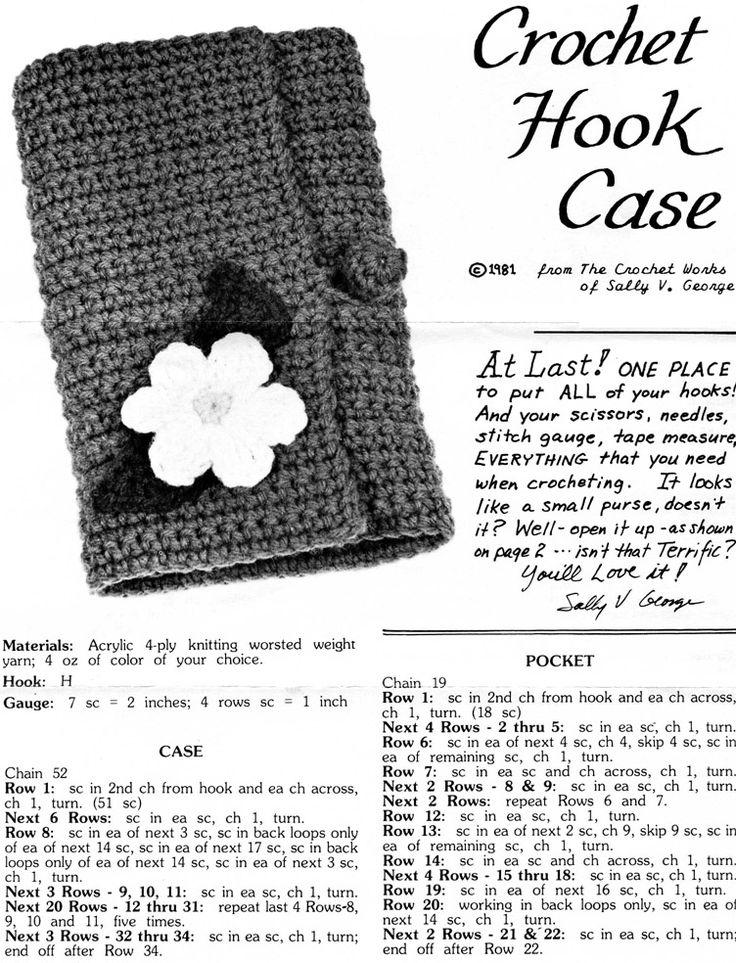 25+ best ideas about Crochet Hook Case on Pinterest