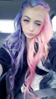 pastel pink purple hair