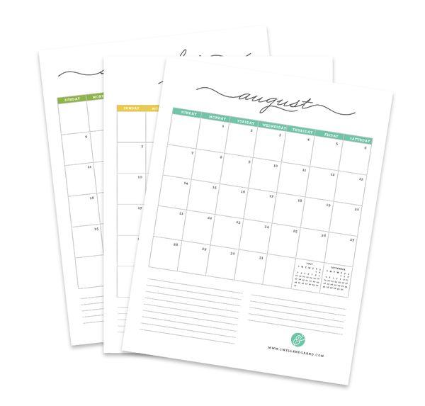 1000+ ideas about Free Calendar Template on Pinterest