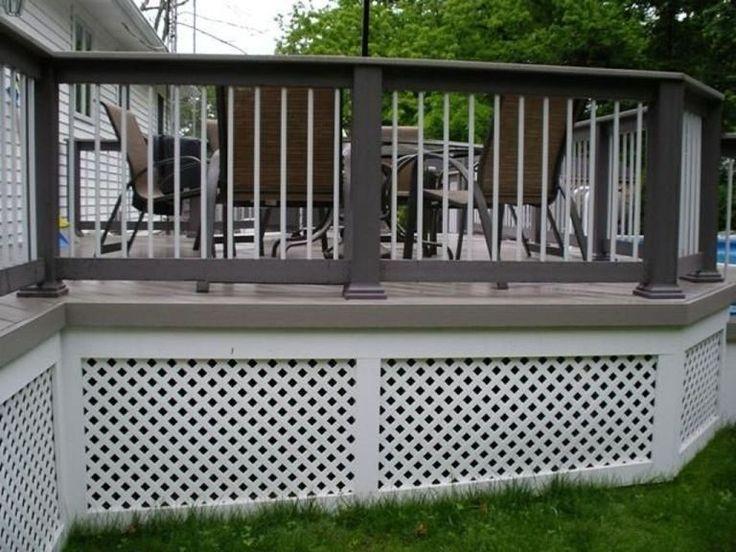 Deck Railing Ideas Lattice