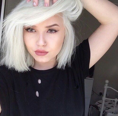 image via we heart it aesthetics blackclothes dyedhair fashion girl grunge hair pale s