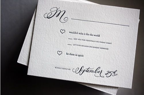 RSVP cards wording be there in spirit  Wedding  Pinterest