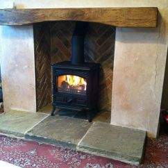 Living Room With Log Burner Italian Furniture Ideas Reclaimed Yorkshire (york) Stone Hearth | ...