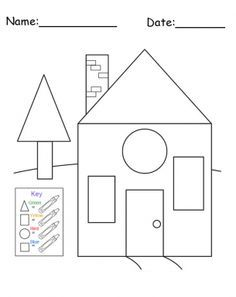 17 Best ideas about Shapes Worksheets on Pinterest