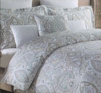 Tahari Home 3pc Luxury Duvet Cover Set Blue Gray Taupe ...